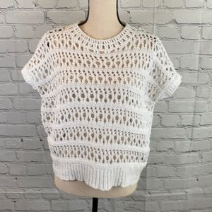 J Brand Crochet Knit Crop Top